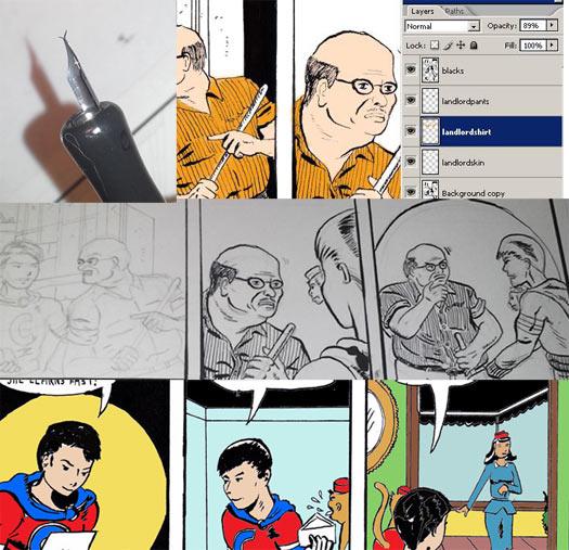 how to practice comics