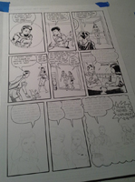 Making a comic page, photo 11