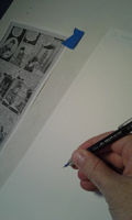 Making a comic page, photo 3