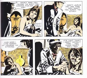 Corto Maltese in the Ballad of the Salt Sea; the judgment of the masks.
