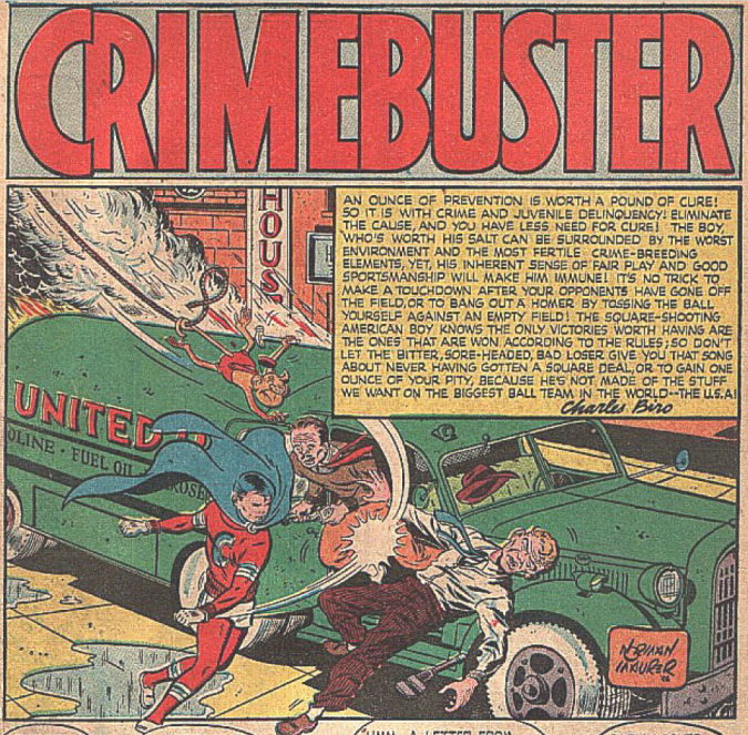 Crimebuster Comic Panel drawn by Norman Maurer